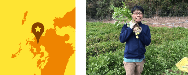 武雄市特産「たけおパクチー」を栽培する江口農園